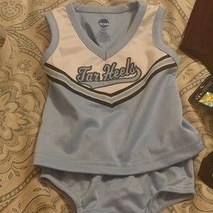NCAA Tarheels 2 piece Cheerleading Uniform
